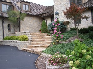 Natural stone stairways and walls