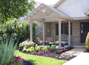 Front Entrance Upgraded Patio and Garden